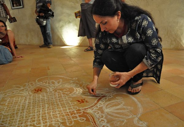 Kolam brings her from France to Mylapore